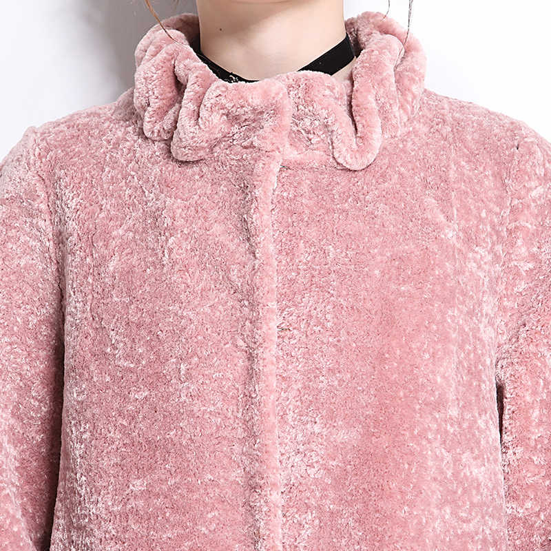 Nerazzurri Winter faux pelzmantel frauen 2019 neue mode lässig warme extra lange gefälschte lamm pelzmantel plus größe outwear 5xl 6xl