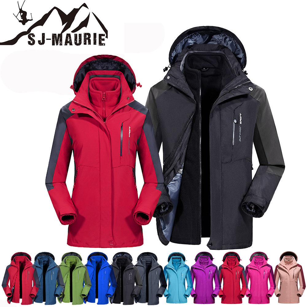 SJ-Maurie Winter Men and Women Ski Suit Set Warm Snowboard Jacket Waterproof Ski Clothing for Hiking Skiing Snowboard Set M-7XLSJ-Maurie Winter Men and Women Ski Suit Set Warm Snowboard Jacket Waterproof Ski Clothing for Hiking Skiing Snowboard Set M-7XL