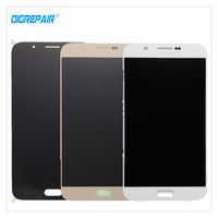 100 Tested Black White Gold For Samsung Galaxy A8 A8000 Cellphone LCD Display Touch Screen Digitizer