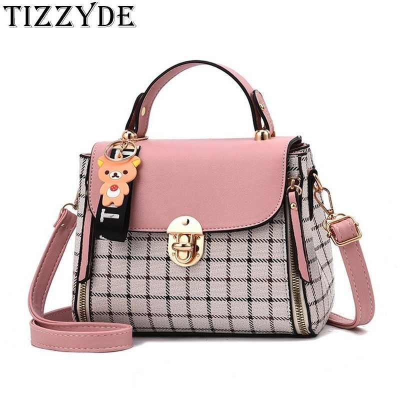 25132b93f1 2018 Korean New Fashion Trend Women s Bag Simple Paild Handbag Shoulder Bag  Diagonal Crossbody Bags ZGW010