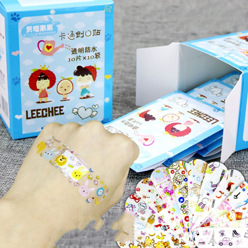 100Pcs Variety Decor Patterns Bandages Cute Cartoon Band Aid For Kids Children #Y207E# Hot Sale(China)