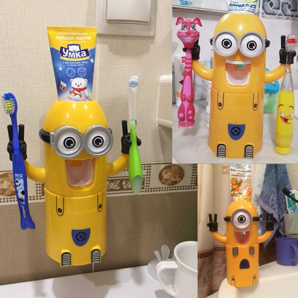 Minion Automatic Toothpaste dispenser + Brush Holder 4