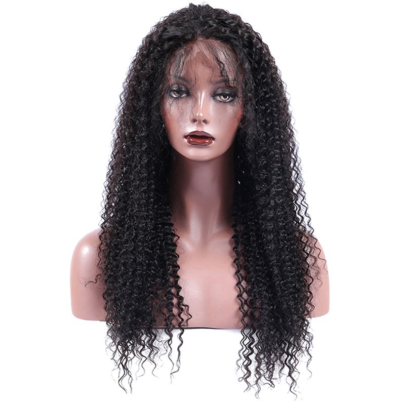 Kinky Curly Silk Base Full Lace Human Hair Wigs Pre Plucked With Baby Hair Brazilian Full Lace Wig 130% Density CARA Virgin Hair