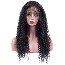 Kinky Curly Virgin Full Lace Human Hair Wigs Pre Plucked Brazilian Full Lace Wig With Baby Hair 130% Density CARA Hair Wigs