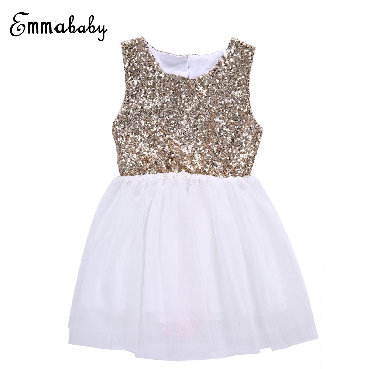 Дети Одежда для маленькой девочки Блёстки Платье принцессы для девочек с цветочным рисунком Платье с открытой спиной и с бантом для вечерин...