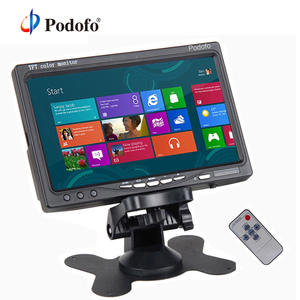Podofo Monitor Camera Security-Display Video-Input Screen-2 Rear-View Tft-Color for DVD