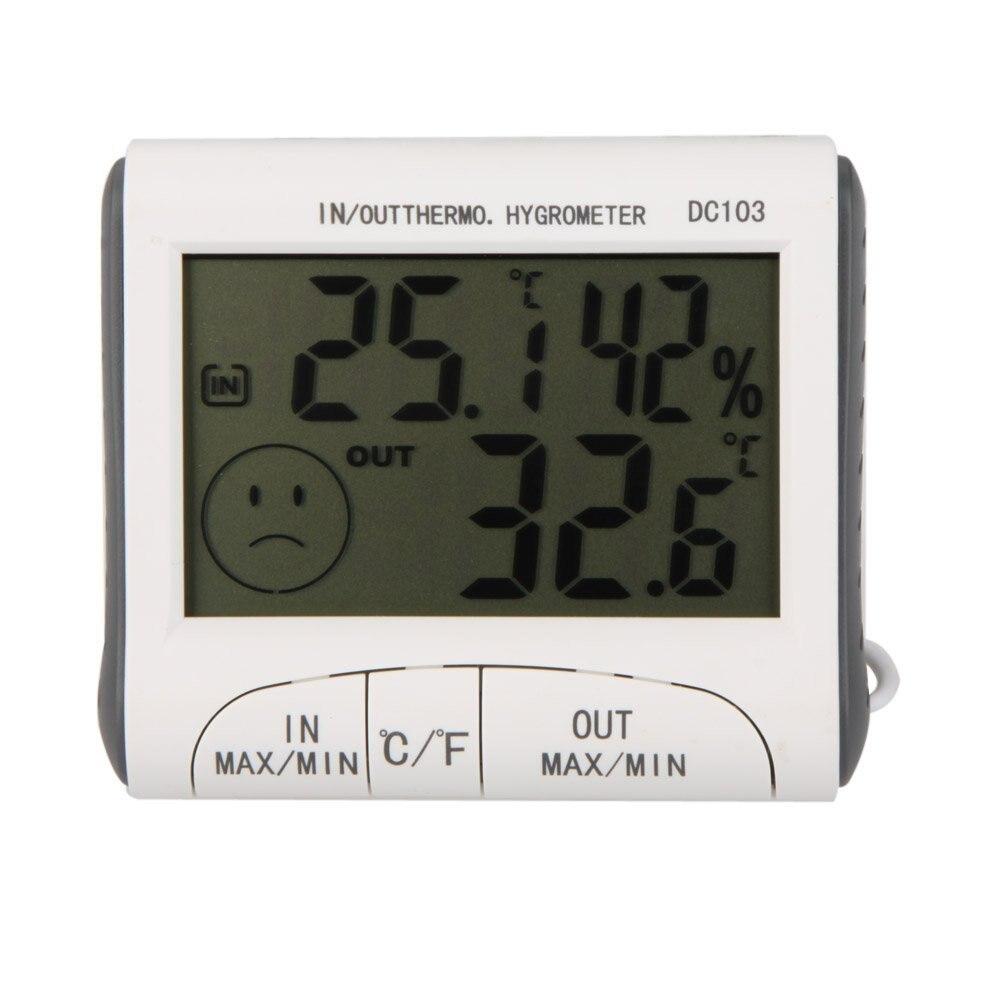 KSOL LCD digitale Termometro Igrometro de di umidita' e temperatura w/cable con 3 esterno bianco