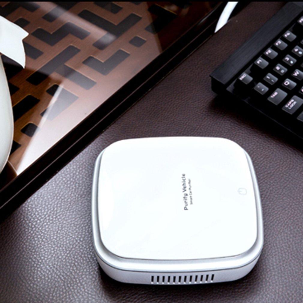 цена на Smart Air Purifier Car Ionizer Anion Car Air Purifier Smoke Dust Remover Portable USB Air Cleaner For Car Home Use