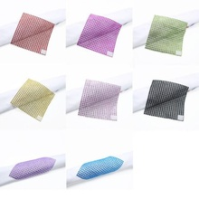 10pcs Square Napkin Ring for Party Wedding Festival Decoration Plastic Chair Buckle Table Ornament Colorful Diamond Buckle