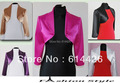 Custom Made Wedding Satin Bolero Shrug Jacket Stole 3/4 Length Sleeve retail and wholesale