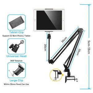 Image 4 - Flexible Starke Arm Tablet PC Ständer Unterstützung 4 zu 10,6 inch Tabletten Bildschirm 360 Rotierenden Bett Desktop Tablet Halter Für iPhone iPad