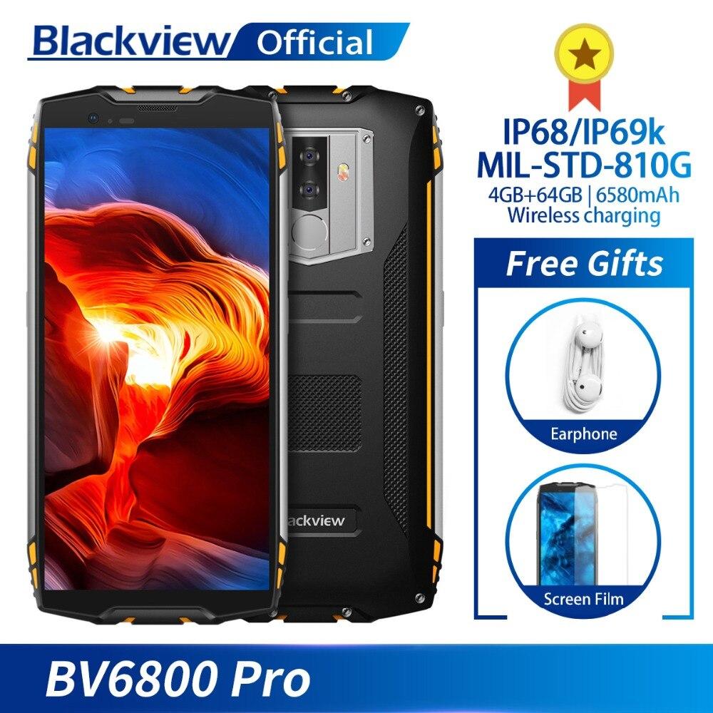 Blackview BV6800 Pro Waterproof Smartphone 5 7 FHD MT6750T Octa Core 4GB 64GB 6580mAh Android 8