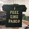 2 Lado de Impressão para Amsterdã Eu Sentir Como Pablo TLOP Kanye West yeezus pop Up T-shirt NOVO