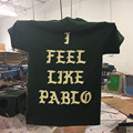 2 Side Print Amsterdam I Feel Like Pablo TLOP Kanye West yeezus pop Up T-shirt NEW