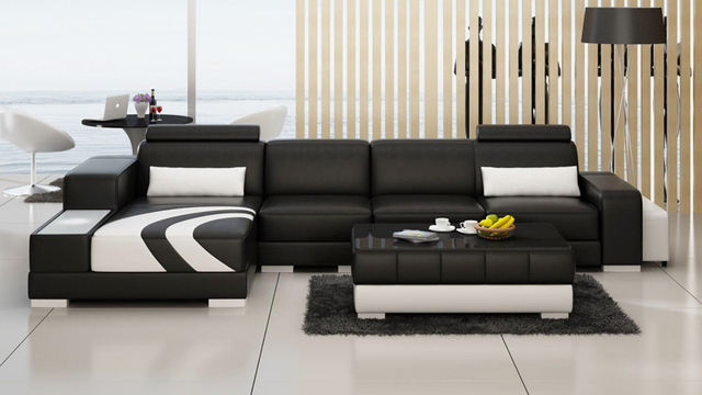 € 1169.57  Salon moderne en cuir canapé salon en cuir inclinable canapé  italie en cuir inclinable canapé 0413 F3007C dans Canapés salle de ...