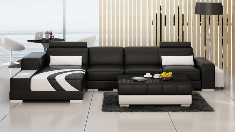 Sofá moderno de cuero para sala de estar sofá reclinable
