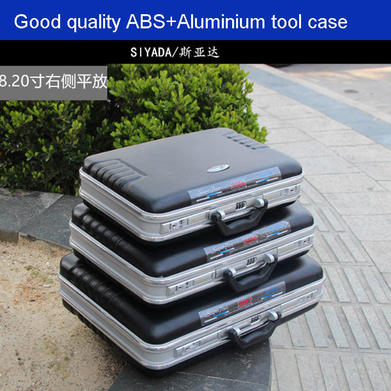 High Quality ABS Aluminium Tool Case Toolbox Aluminum Frame Business Advisory Suitcase Man Portable Suitcase Briefcase
