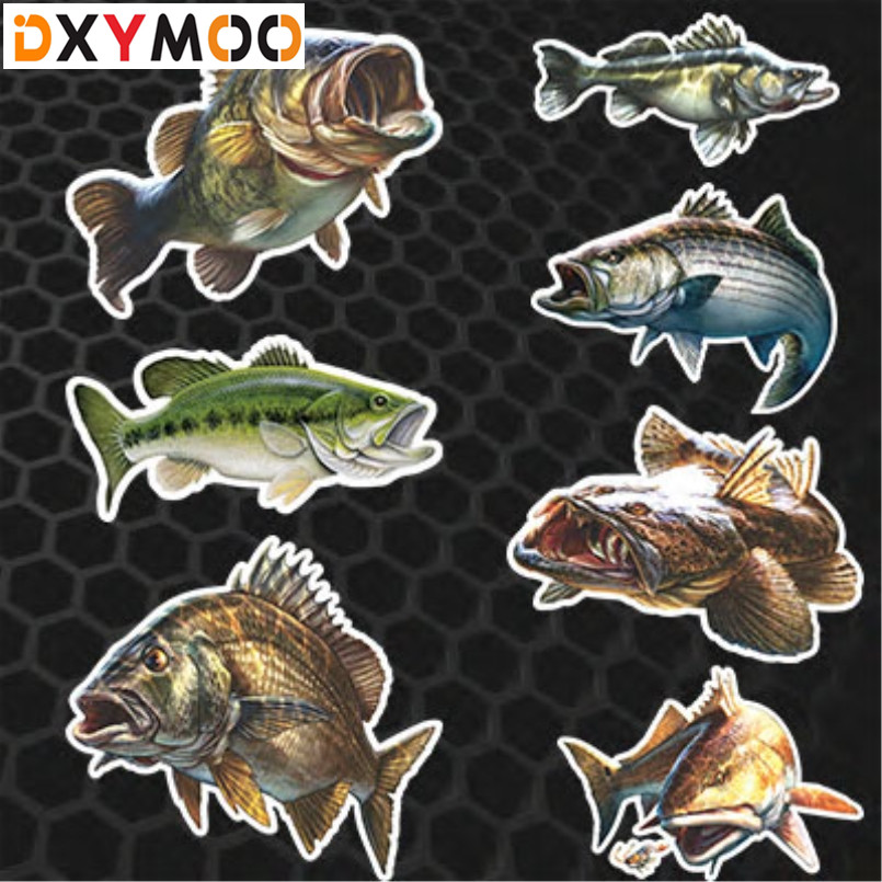 Ocean Fish Lure Car Stickers Cool Realistic Carp Go Sea Fishing Auto Window Decals 3M Reflective baricco a ocean sea