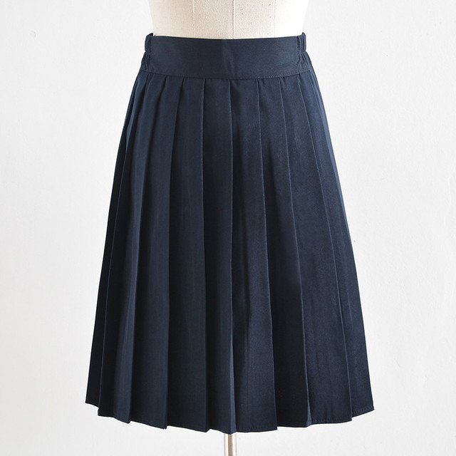 014a5adfd 2018 New Girls JK Sailor School Uniform Long Pleated Skirts Below the Knee  High School Girl Elegant Solid Skirt Plus Size 5XL-in School Uniforms from  ...