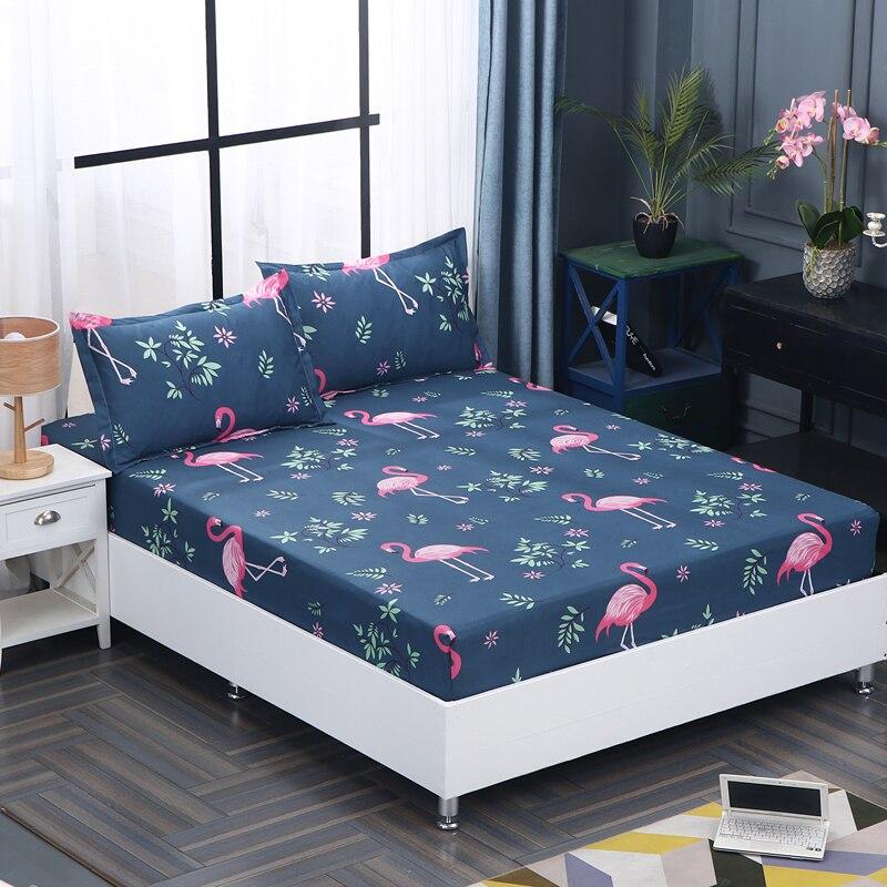 3 stücke 100% Polyester Spannbetttuch Gesetzt Matratzenbezug Kissenbezüge Vier Ecken Mit Gummiband Bettlaken