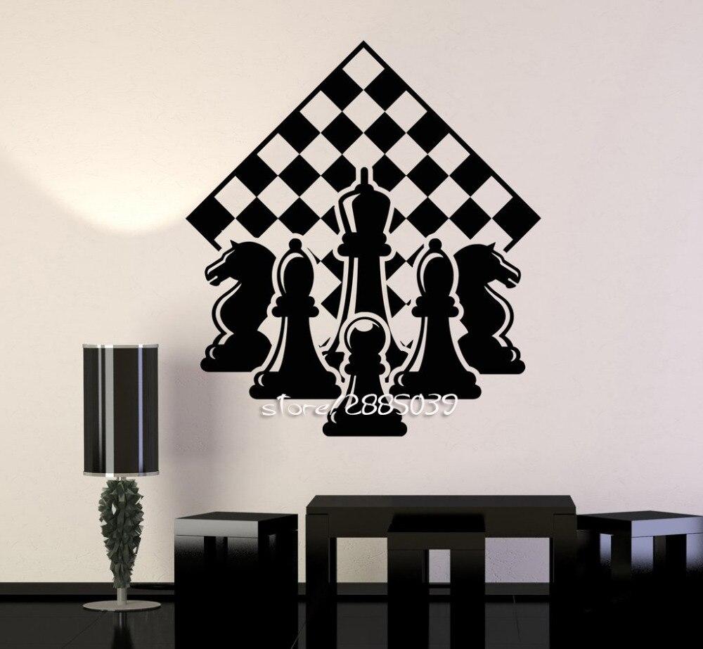 チェスプレーヤーピースチェス壁ステッカーe Co優しいビニールチェス盤