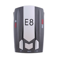 E8 360 Degree Full Band Russian English Radar Detector Scanning Voice Anti Police Warning Vehicle Speed