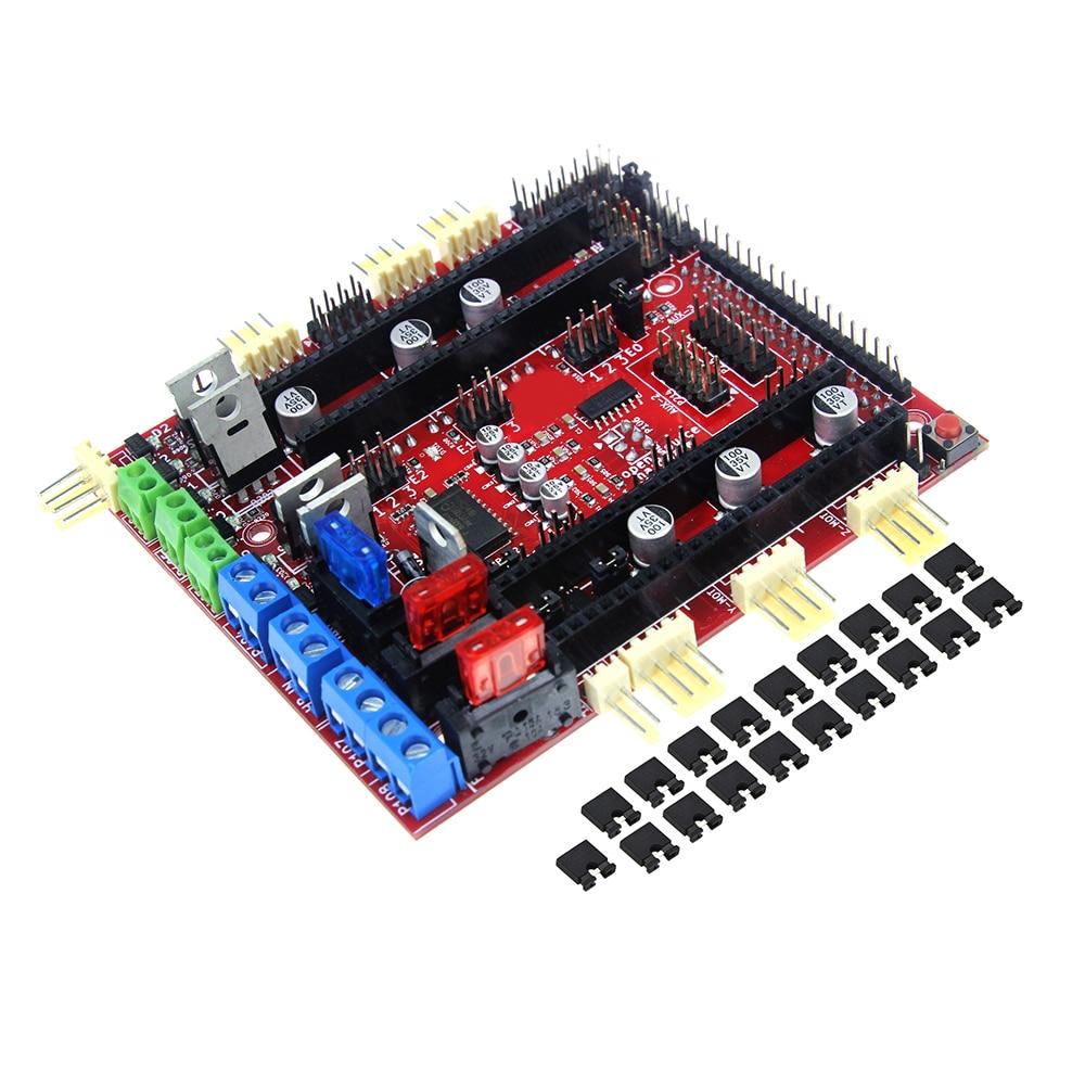 3D Printer Reprap Control Board 32bit RAMPS-FD Shield CortexM3 ARM Ramps1.4 Improved Version robotale ramps 1 4 reprap mendelprusa 3d printer control board red black