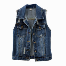 Women Denim Vest Coat New Spring Autumn Short Outerwear Plus size 5XL Single Breasted Female Sleeveless Waistcoats Jeans Jackets(China)