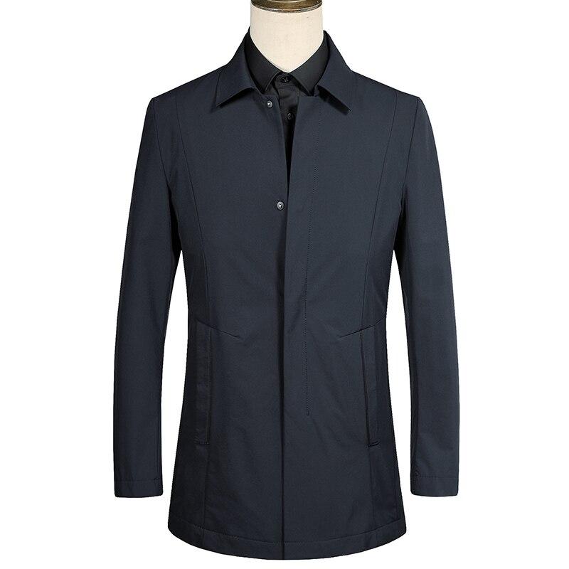 2018 Autumn Mens Classic business   trench   Coats men's high quality turn-down collar Jacket Men Casual Coat Mens windbreaker F696