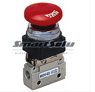 Free Shipping MOV-03 2 Way 2 Position 1/8 Thread Push Button Switch Pneumatic Mechanical Valve jm mov mechanical valve control valve people pneumatic components knob button mushroom head spin with a lock lever handle