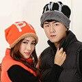 2016 мода зимние шапки для женщин и мужчин Skullies шапочки высокое качество шерсть крышка девушка теплая зимняя шапка