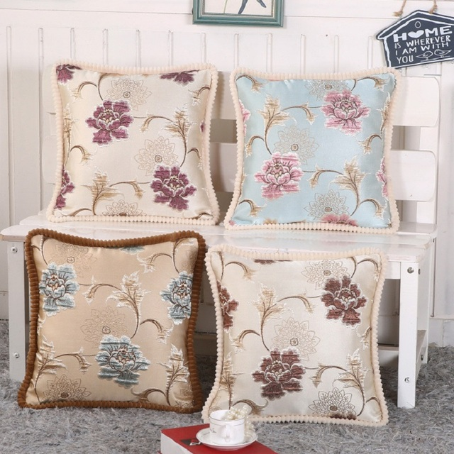European Style Luxury Sofa Decorative Throw Pillows Cushion Cover Home Decor Almofada Cojines Decorativos 48x48cm High