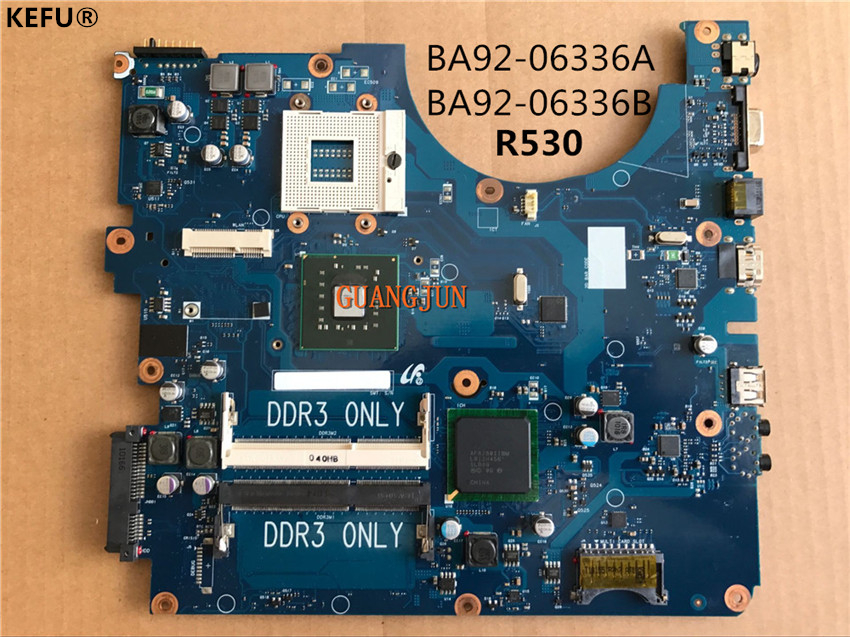 KEFU Free Shipping For Samsung R530 motherboard BA92 06336A BA92 06336B Tested perfect working