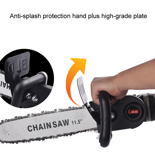 "TRANVON Multifunction Electric Chain Saw Converter Bracket DIY Set For 100mm 4"" Electric Angle Grinder Woodworking Tool QF-D001 3"