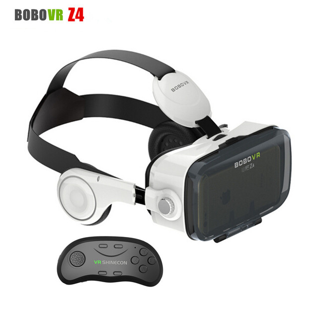 Xiaozhai BOBO VR Z4 3D Movie Glasses Helmet IPD Adjust Virtual Reality Goggles VR Headset for 4.7 -6.0 Phone+Shinecon Controller