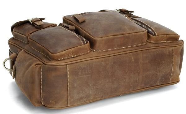 Duffel Erkekler Seyahat Bagaj Çantası Bağbozumu Hakiki Deri Erkek - Bagaj ve Seyahat Çantaları - Fotoğraf 4