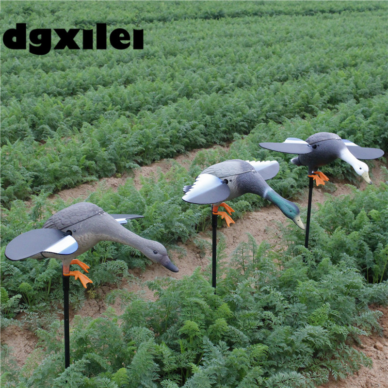 2017 Xilei Free Shipping Dc 6V/12V New Arrivals Animal Trap Decoy Outdoor Duck Decoy Motorized With Spinning Wings fancytrader new style giant plush stuffed kids toys lovely rubber duck 39 100cm yellow rubber duck free shipping ft90122