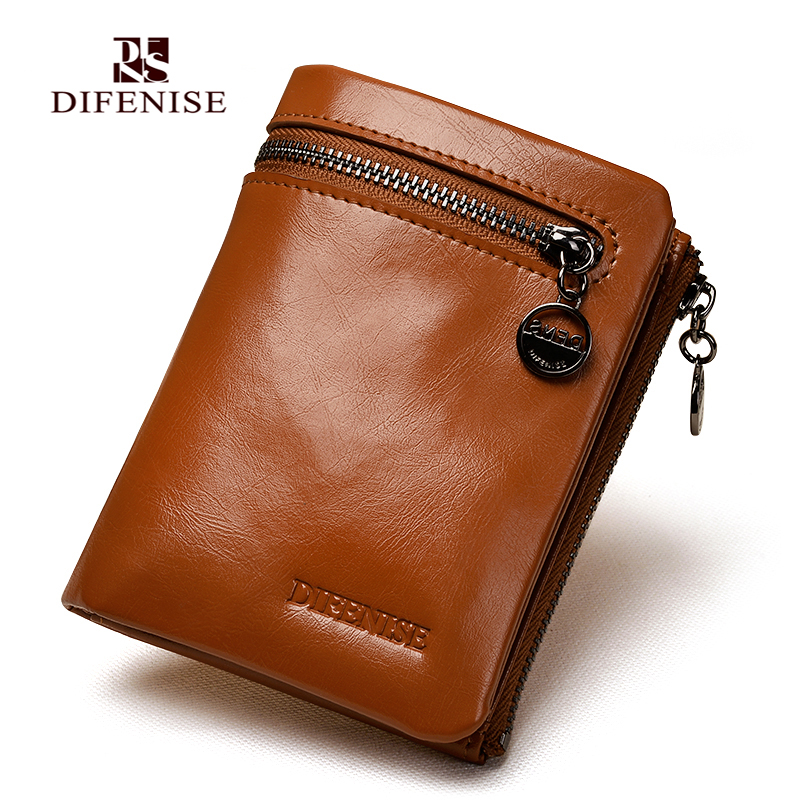 Difenise Vintage Brand Women Leather Coin Purse Zipper Small Cowhide Change Purse Genuine Female Mini Wallet Short Credit Cards 2017 genuine cowhide leather brand women wallet short design lady small coin purse mini clutch cartera high quality