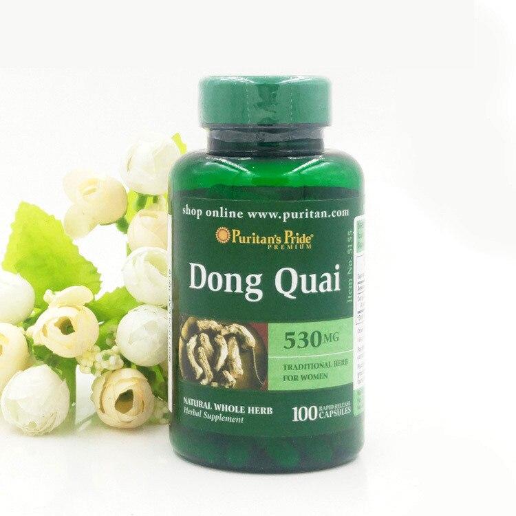 Free shipping Dong Quai 530 mg 100 pcs dong quai 530 mg traditional herb for women 100 capsules free shipping