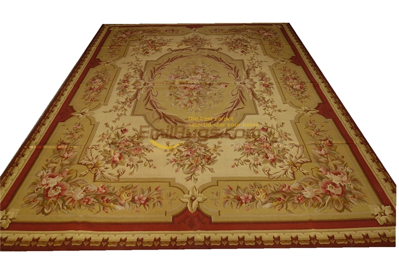 French Handwoven Aubusson Carpet Aubusson Needle Oriental Carpet Hand-knotted Wool Handmade Natural Sheep WoolFrench Handwoven Aubusson Carpet Aubusson Needle Oriental Carpet Hand-knotted Wool Handmade Natural Sheep Wool