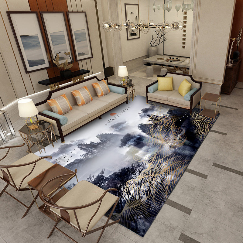 Abstrait pin arbre motif salle de bain tapis tapis tapis pour salon chambre porte antidérapant tapis de bain tapis de sol canapé tapis tampons