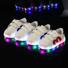Kids Glowing Sneaker 2017 New Spring Brand Led Luminous Baby Boys Girls Casual Shoes For Children Shoes With Light Size 21-30