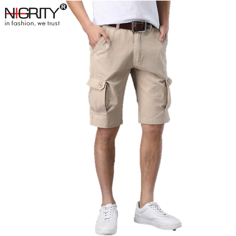 NIGRITY 2018 New Summer joggers Cargo Shorts Men Loose mens Military Trousers Size Casua ...