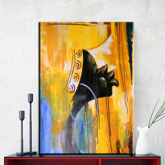 ZZ721 modern canvas prints art abstract african bride girl canvas ...