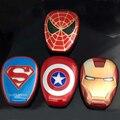 2015 новые Мстители Power Bank 12000 мАч Капитан Америка Супермен Железный человек Spide Человек-Портативное Зарядное Устройство Для iphone6