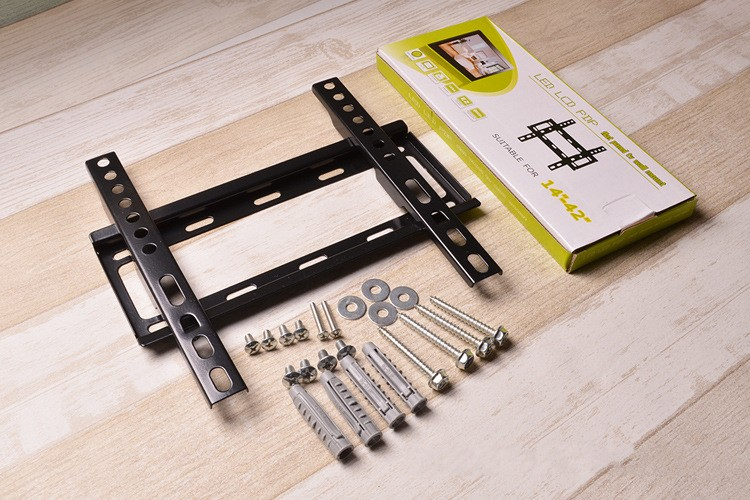 Excellent Quality New Design Universal 75*75-200*200mm For 14-42inch LCD LED Fixed Wall TV Mount Bracket Stand Holder