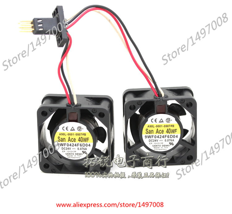 Sanyo 9WF0424F6D04 DC 24V 0.076A   40x40x20mm Server Square fan nz f 24 6 5x16 5x105 et39 d56 6 wf