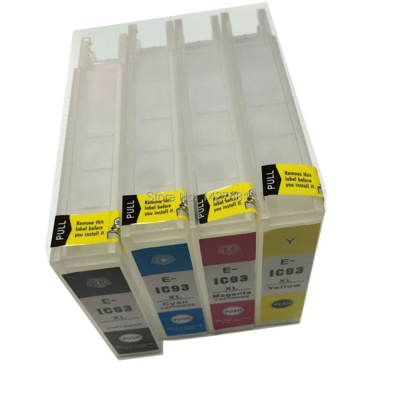 ФОТО Compatible IC93XL for Epson ICBK93M ICC93M ICM93M ICY93M refillable inkjet cartridge for Epson PX-M7050F/PX-S7050 printer + chip