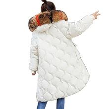 Plus Size 2018 Winter Jacket Women Colorful Big Fur Hooded Thick Down Parkas Long Female Jacket Coat Slim Warm Winter Outwear