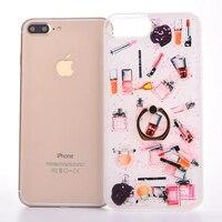 Luxury Cosmetic Makeups Lipstick Perfume Make UP Glitter Quicksand Liquid Plastic Cover Case For IPhone 77
